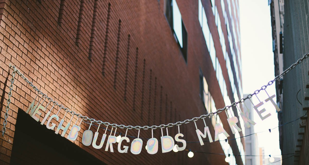 Hanging out at Neighbourgoods in Braamfontein with Karen