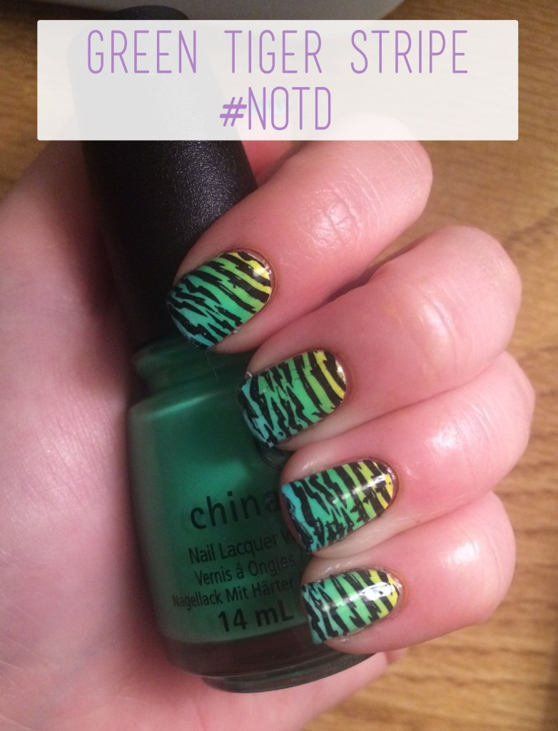 Green Tiger Stripe #NOTD Overview | The Rebel Planner