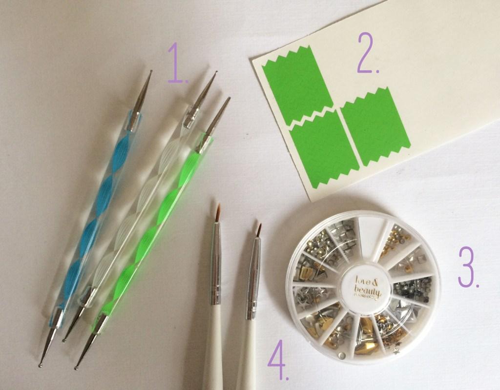 Nail Art Starter Kit Numbered | The Rebel Planner