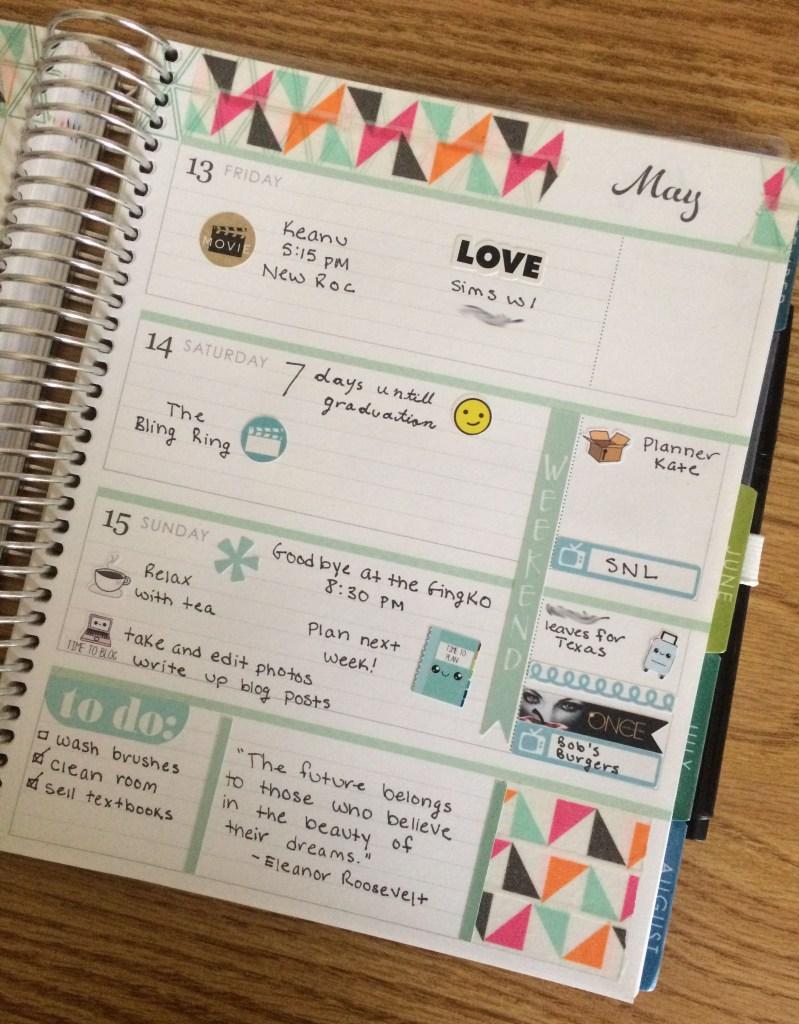 A Week in My Erin Condren Left Side | The Rebel Planner