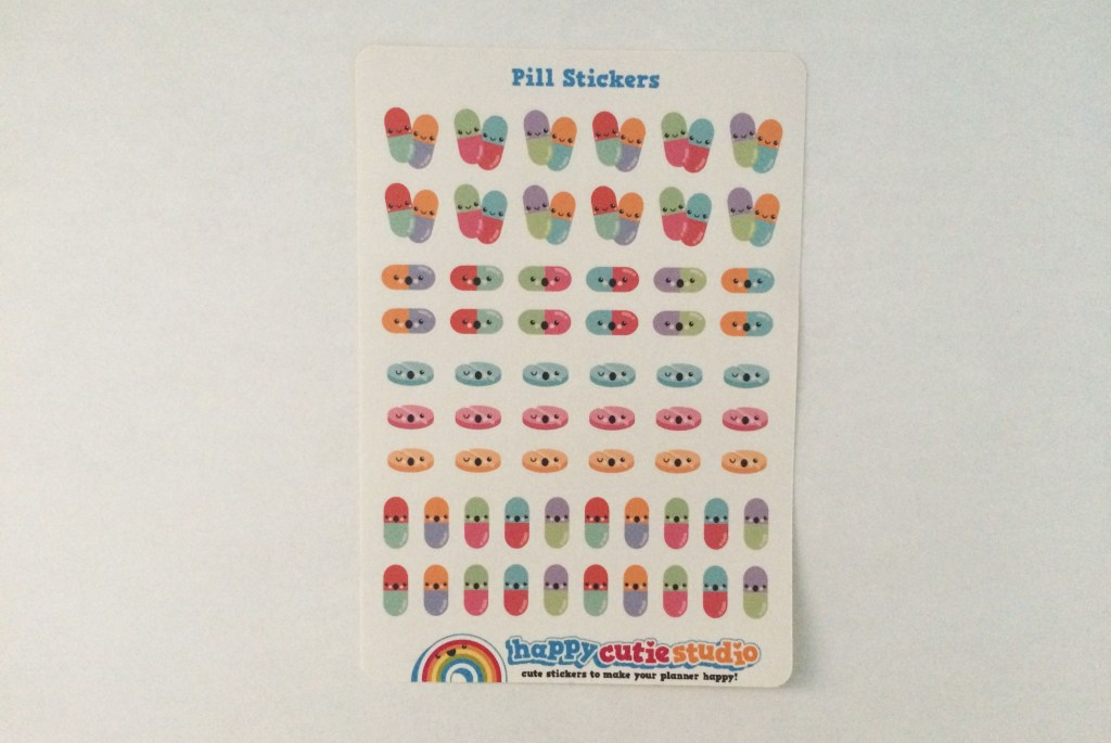 Pill Stickers   The Rebel Planner