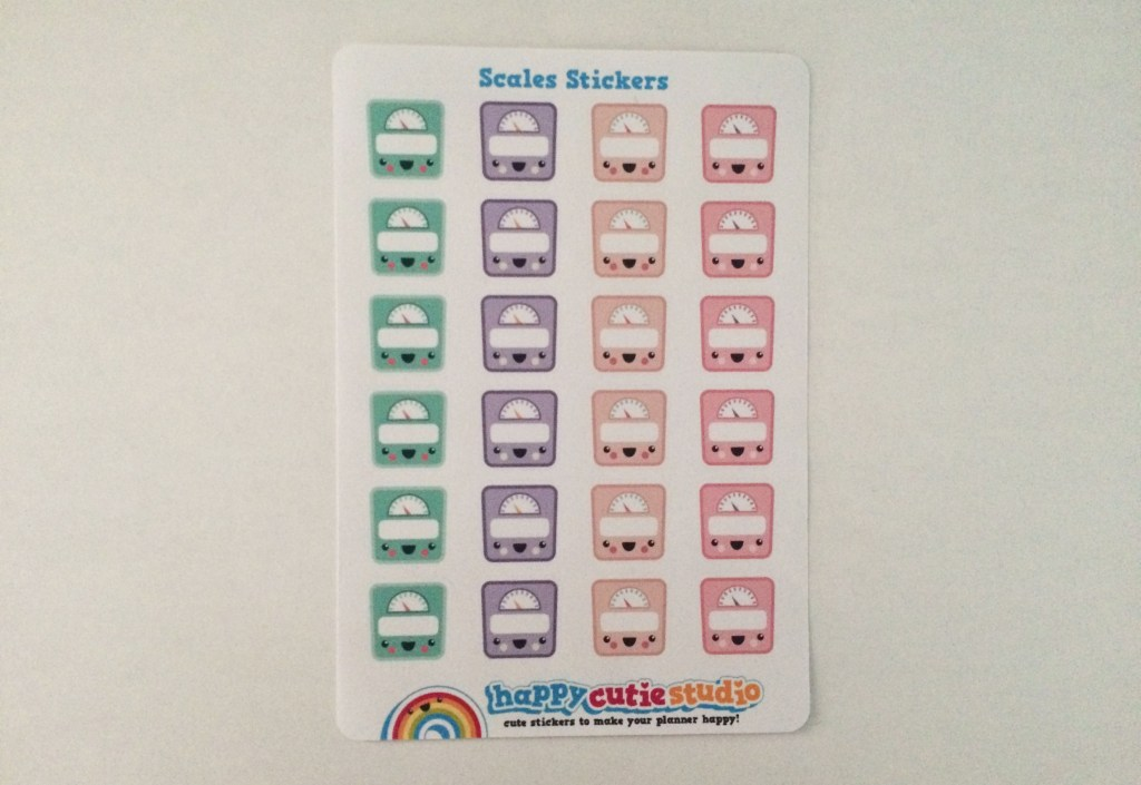 Scale Stickers   The Rebel Planner