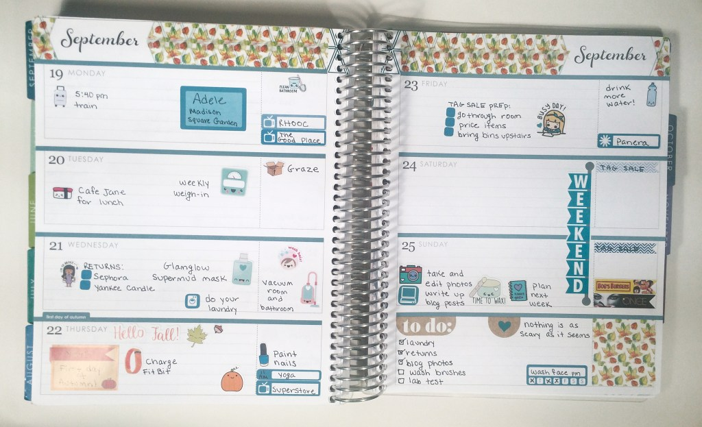 A Week in My Erin Condren | The Rebel Planner