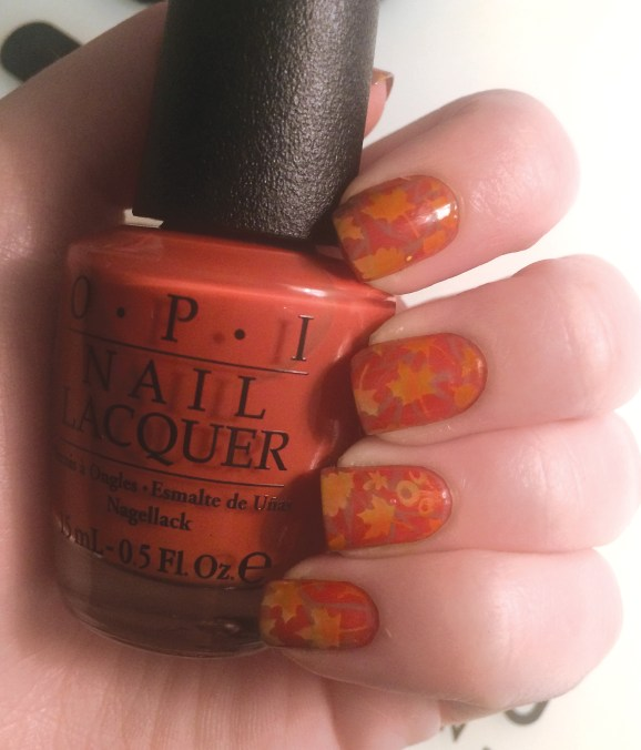 Fall Leaves #NOTD | The Rebel Planner