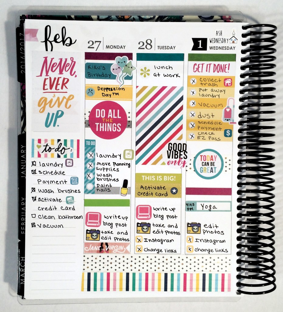 A Week in My Erin Condren
