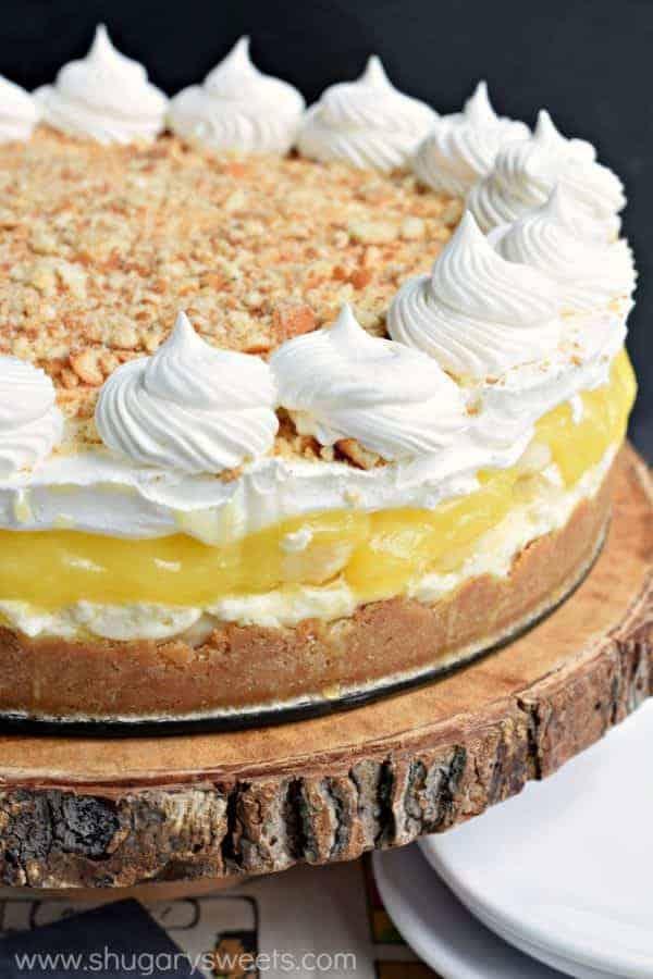 No Bake Banana Cream Cheesecake