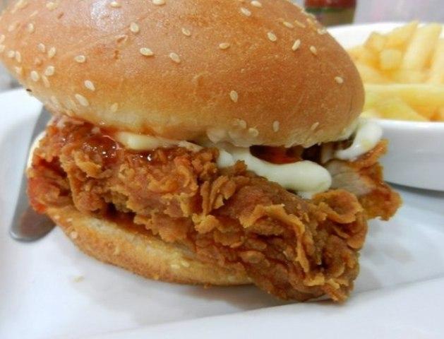 KFC Style Zinger Burger Recipe