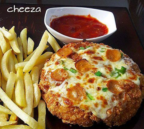 Homemade KFC Chizza Recipe