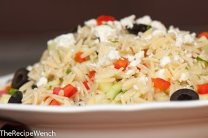 Orzo, Cucumber, Feta Cheese Salad