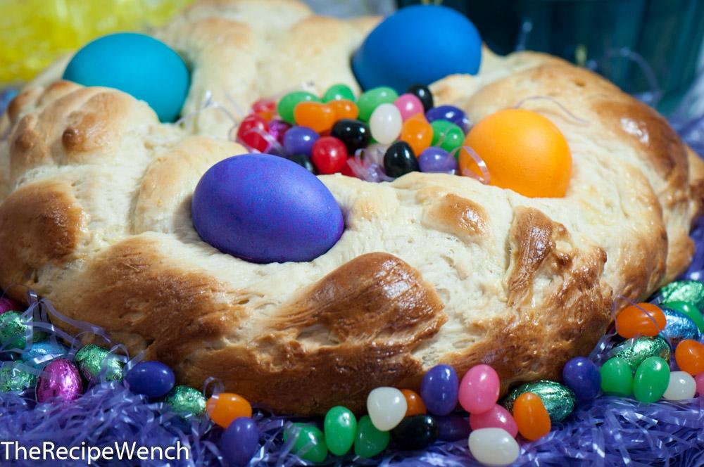 Easter Sweet Bread Wreath