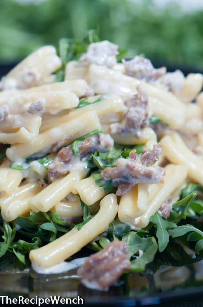 Pasta With Sausage and Arugula