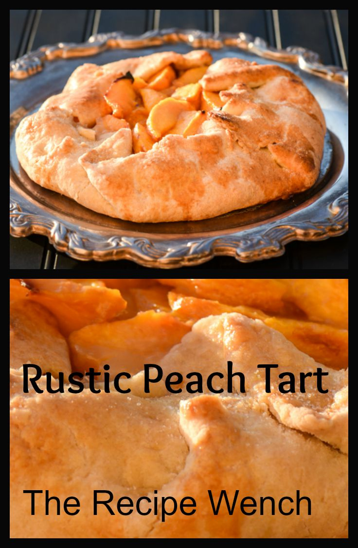 Rustic Peach Tart. Super simple and delicious!