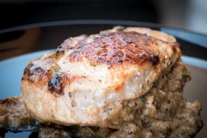 Stuffed pork chops are easy, tasty and SO beautiful! They freeze well too!