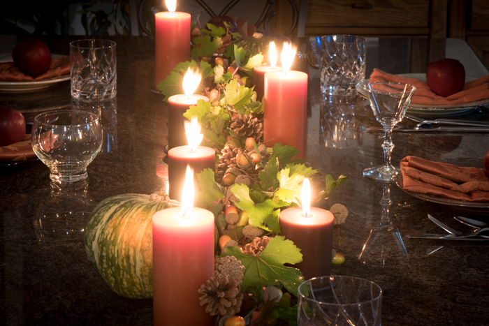 Autumn Dinner Party table setting