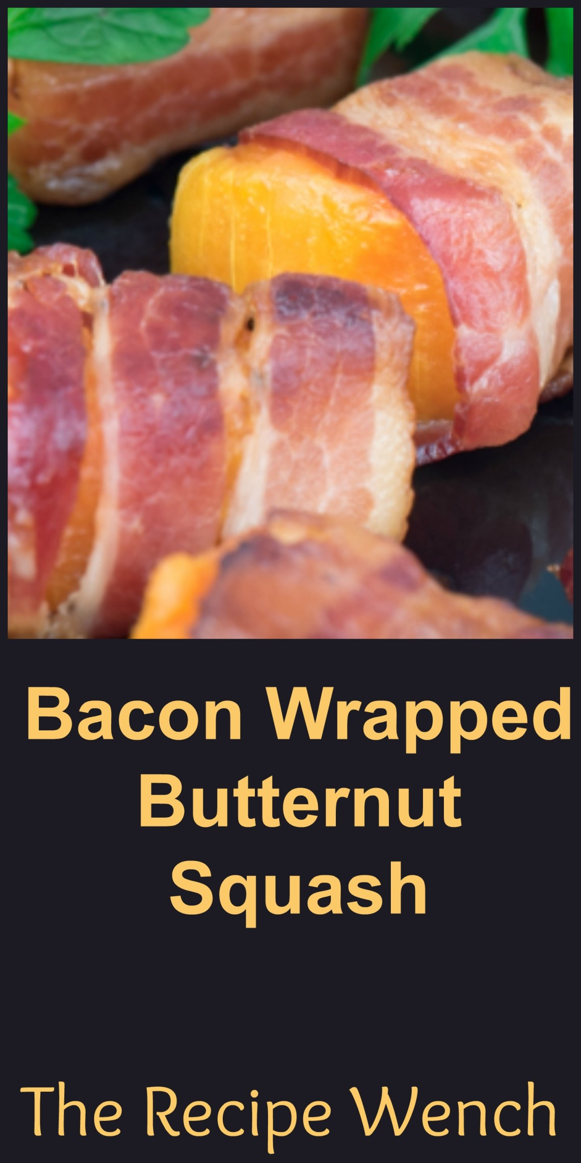 This bacon and butternut squash appetizer is a tasty combination of flavors and textures -- creamy, sweet butternut squash pairs excellently with crunchy, salty, smoky bacon. | The Recipe Wench