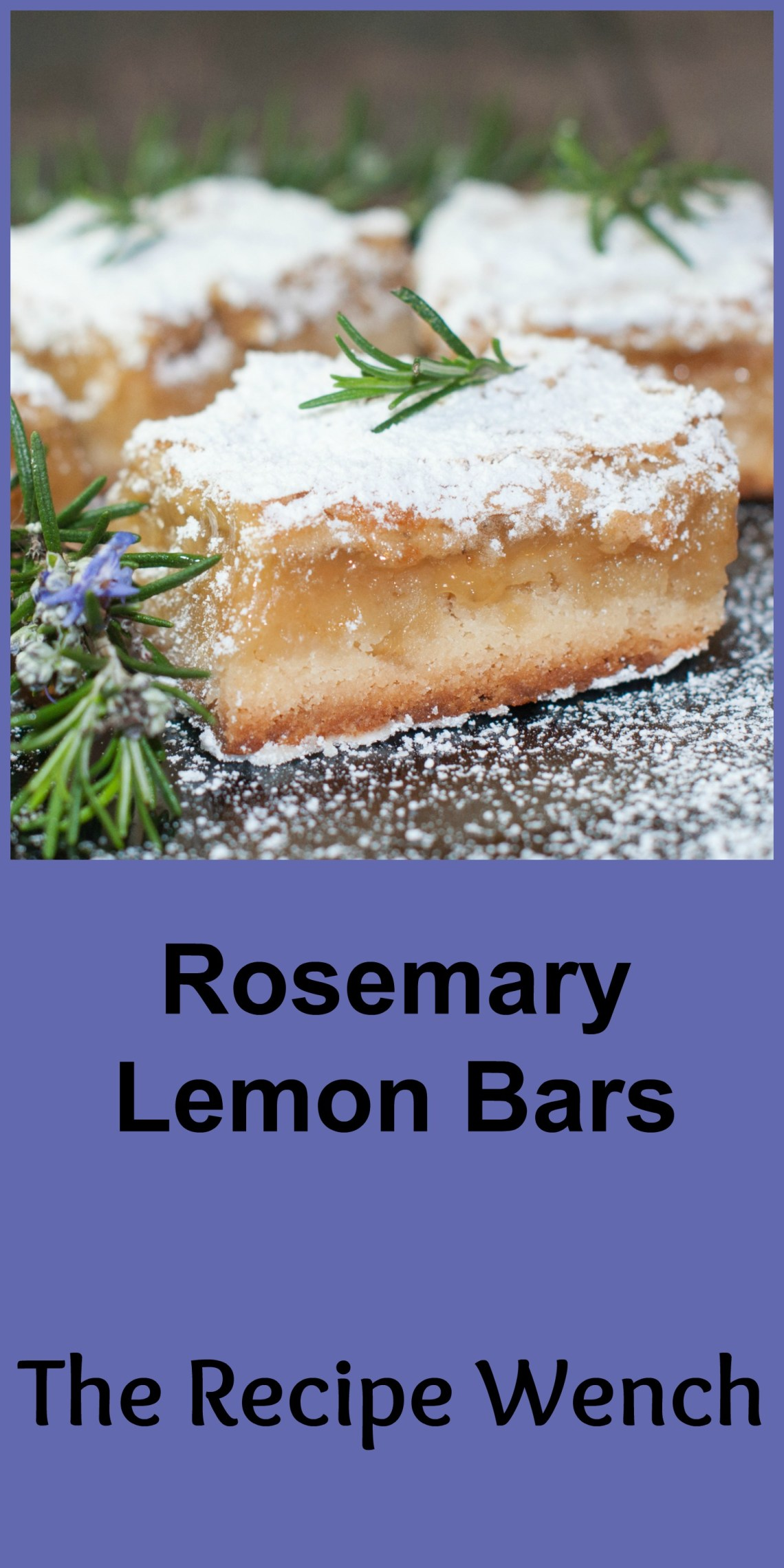 East Rosemary Lemon Bars with a rich, buttery crust, refreshing lemon and fragrant rosemary. These bars are SO good! | The Recipe Wench