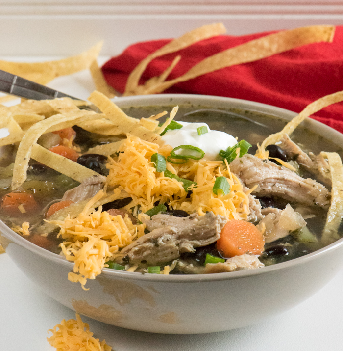 Easy Chicken Tortilla Soup -- fast and soul satisfying! | The Recipe Wench