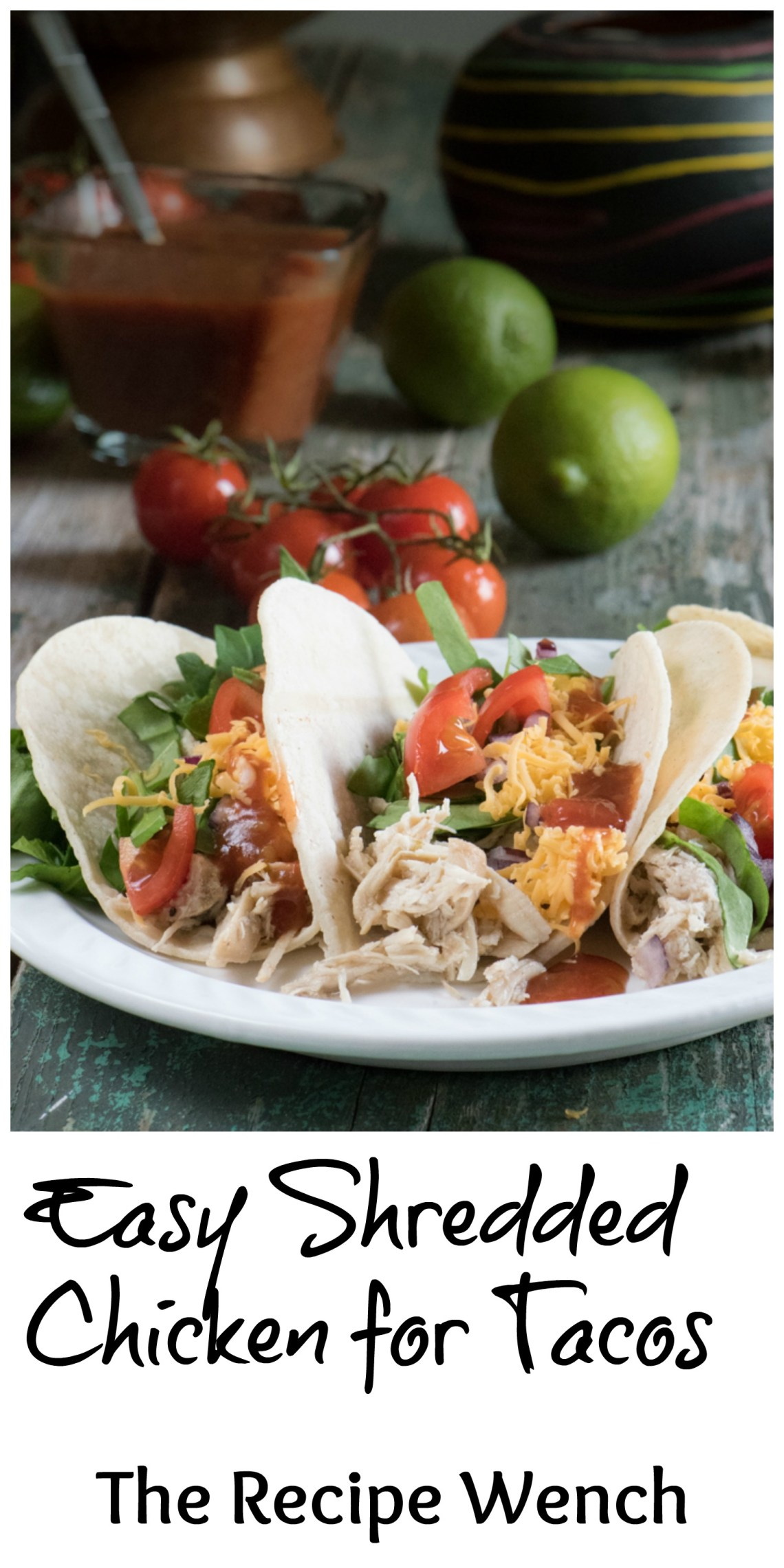 You won't believe this easy shredded chicken recipe. Make extra and store for those hectic last-minute dinners. I do! | The Recipe Wench