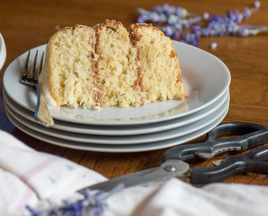 Subtle hints of lavender and an amazing texture , thanks to buttermilk. Vanilla lavender - what a cake! | The Recipe Wench