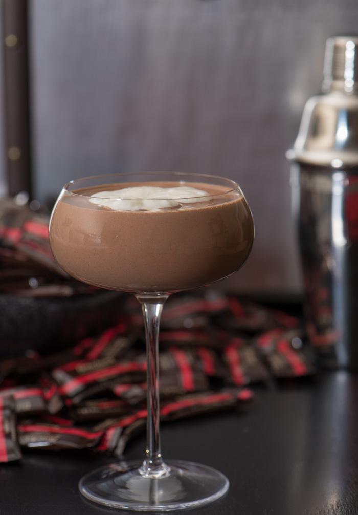 This dark chocolate daiquiri is rich and indulgent. Perfect for holiday entertaining! | The Recipe Wench