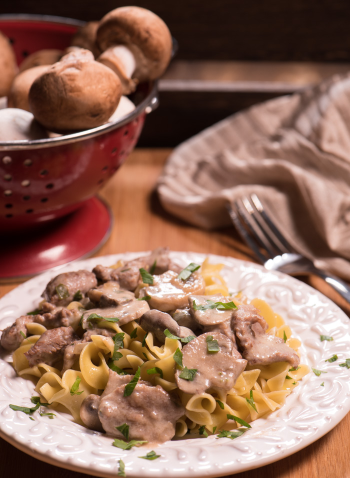 Beef Stroganoff is an elegant, rich, creamy dish made with a few basic ingredients. Simple and quick! Enjoy! | The Recipe Wench