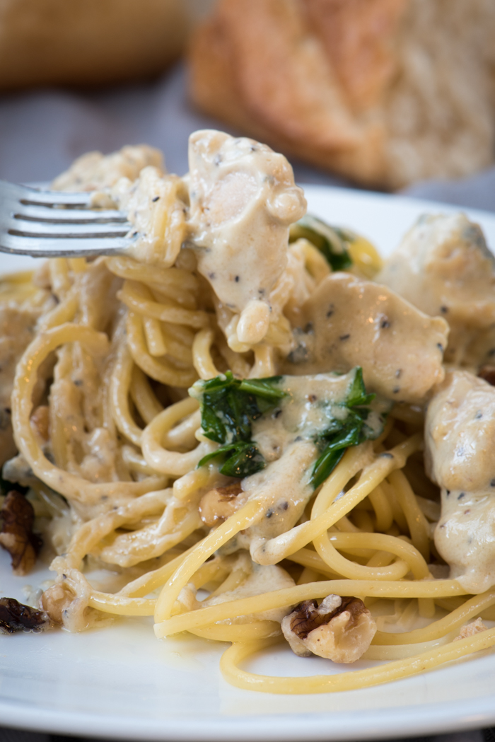 Creamy Chicken Gorgonzola Pasta Sauce The Recipe Wench