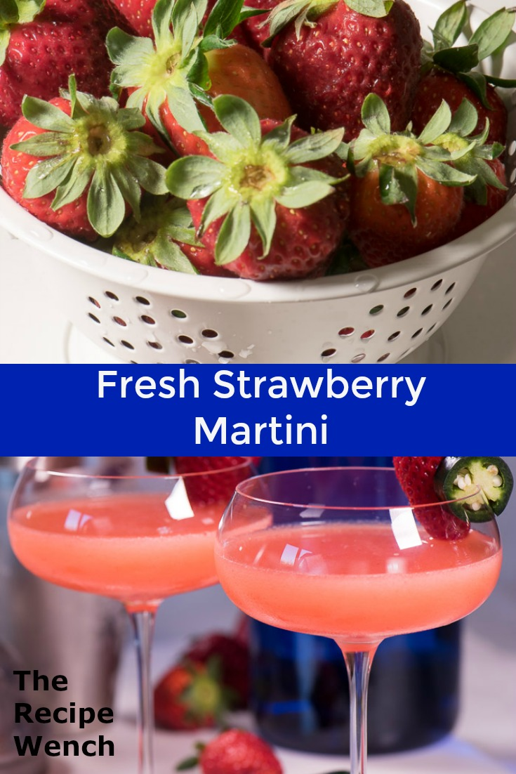 Fresh strawberry syrup made the day before is the key to this strawberry martini. You will thank me! | The Recipe Wench
