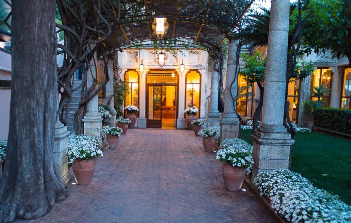 Entrance to Hotel Il Timeo Taormina Sicily