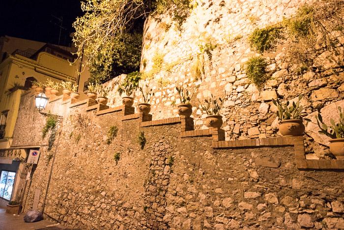 Gorgeous wall Taormina Sicily