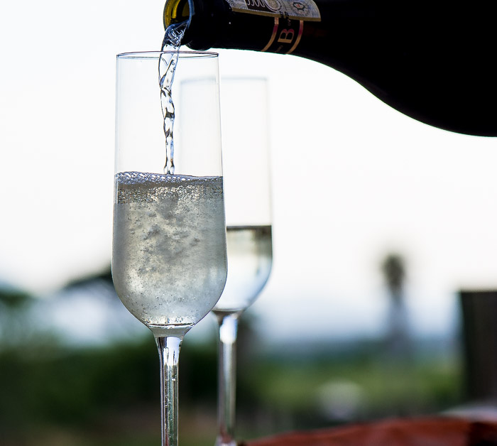 We enjoyed prosecco in Sicily