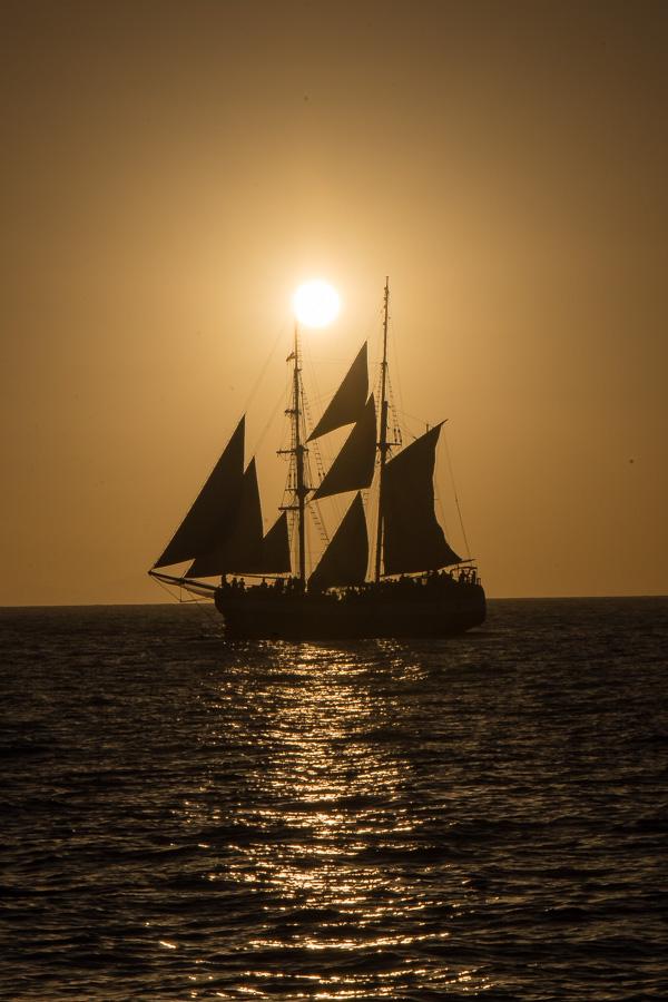 Greece and Santorini - sunset
