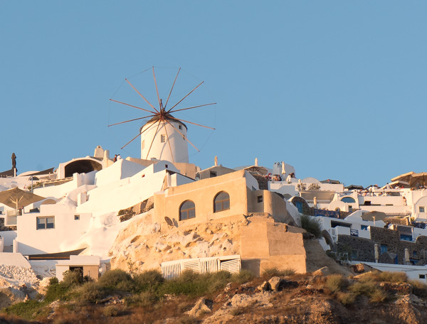 Greece and Santorini - view of Oia