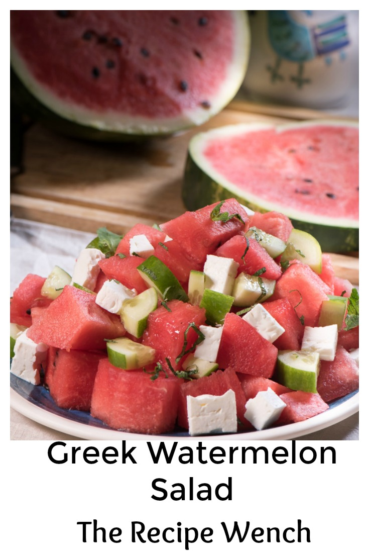 Fresh, sweet, crunchy watermelon, creamy feta. Perfection! | The Recipe Wench