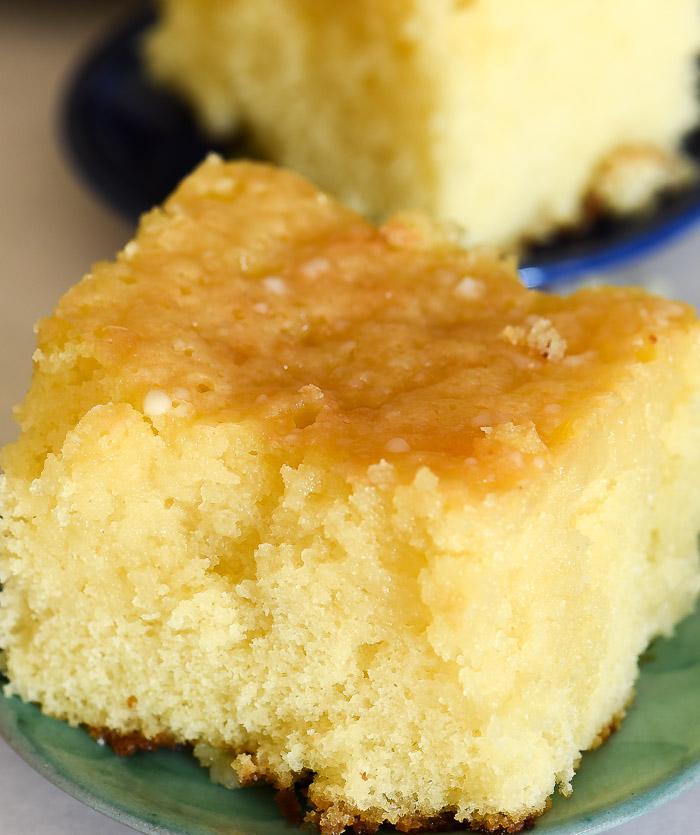 The indulgent texture of this lemon poke cake is amazing! | The Recipe Wench
