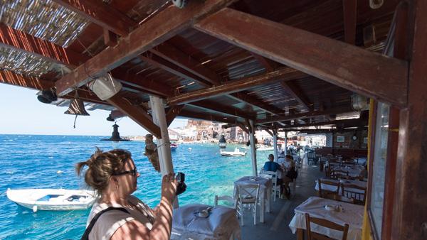 Athens Santorini Amoudi bay
