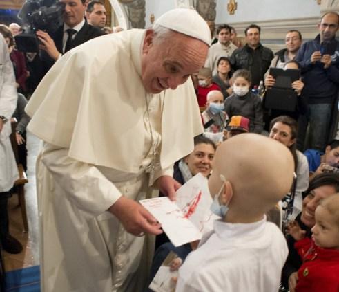 Image result for pope francis visits childrens hospital