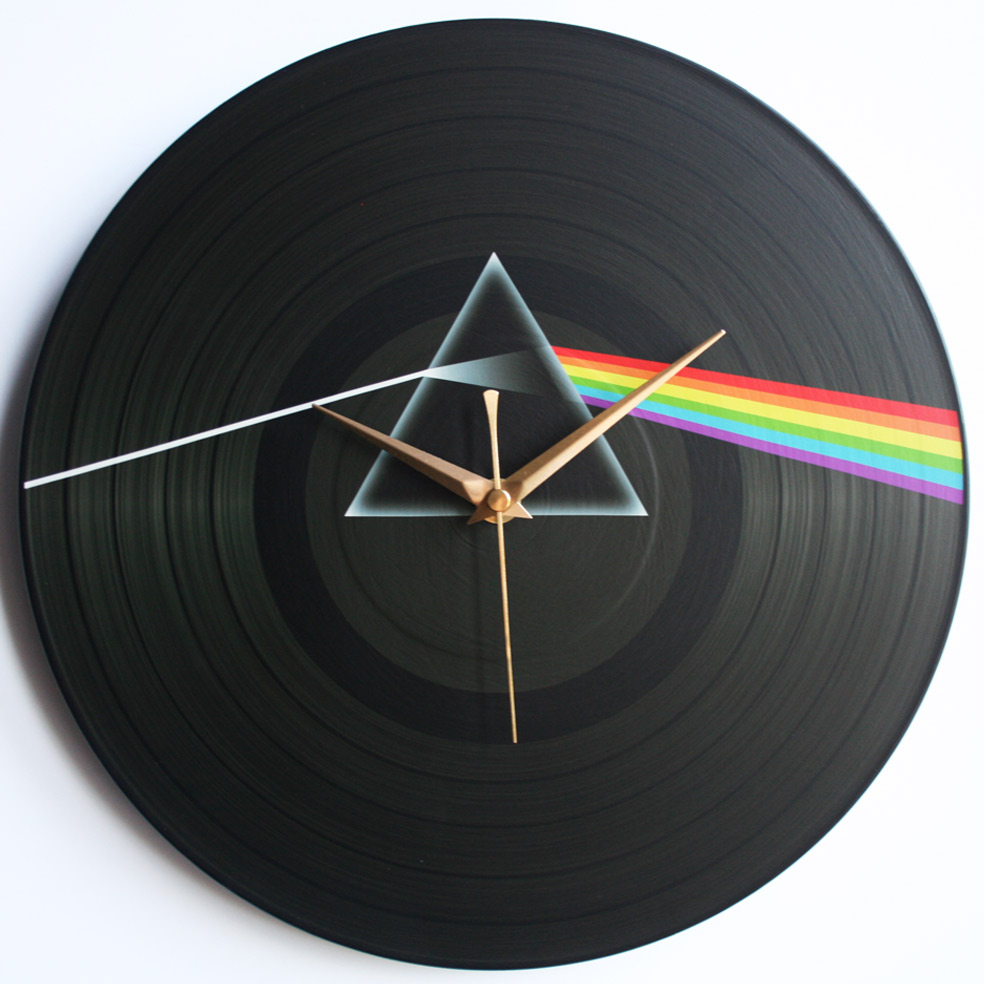 Pink Floyd Collection 12 LP Vinyl Record Wall Clocks The Records Ticking