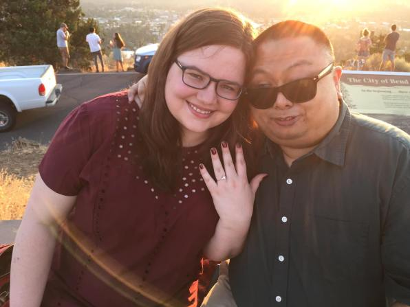 Megan and Aser engagement photo