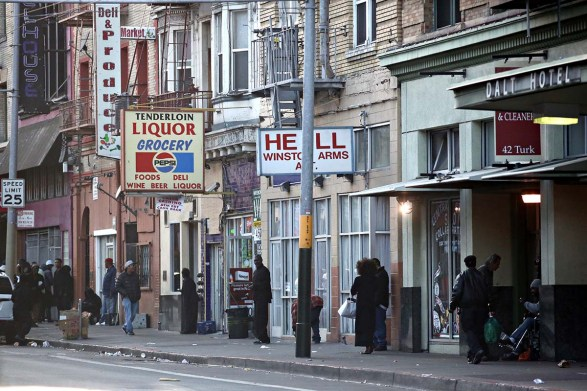 A picture of the Tenderloin district in San Francisco