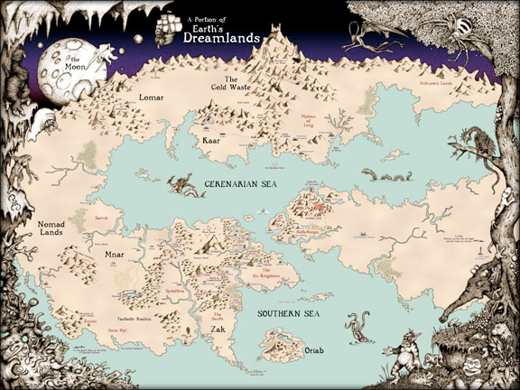 A map of the dreamlands