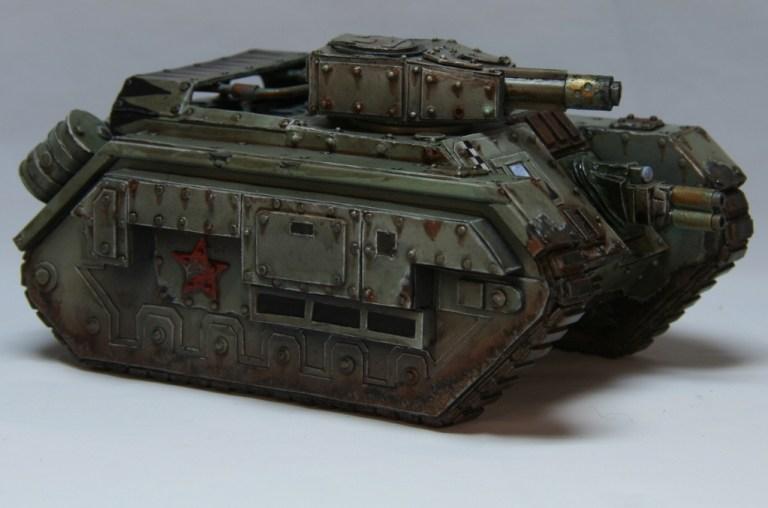 Devil Dog tank with large gun pointing forward