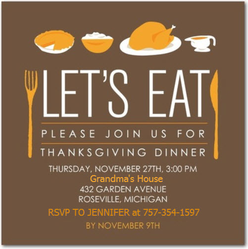 Chuckle Of The Day Grandmas Thanksgiving Invitation