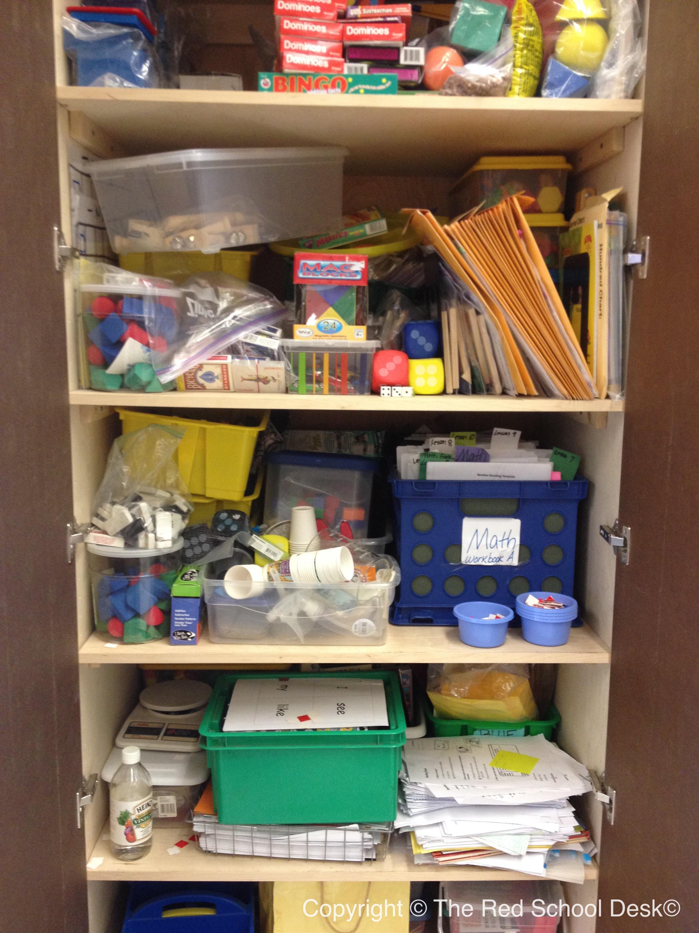 Organizing My Classroom Cabinets