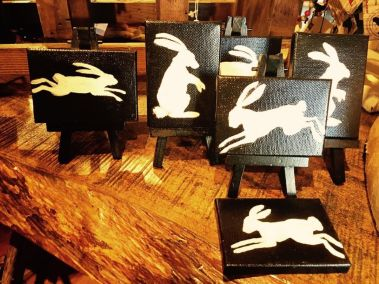 Lisa Schorr, multiplying rabbits on acrylic