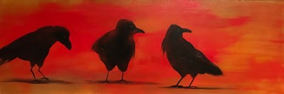 Lisa Schorr, Acrylic Crows