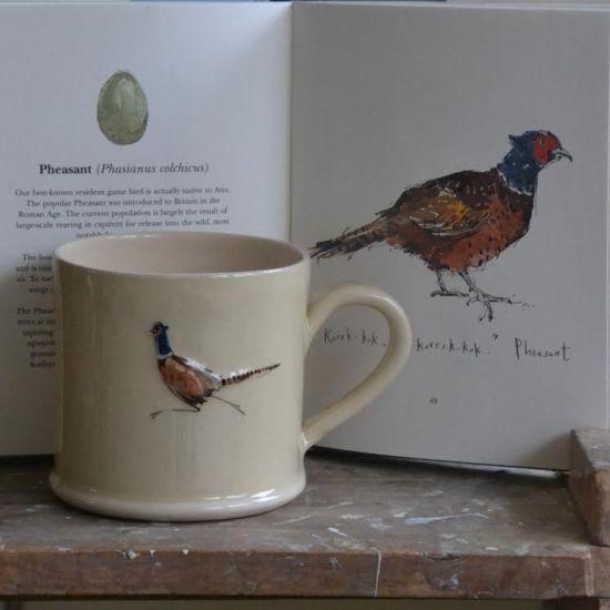 Jane Hogben Primrose Pheasant Mug