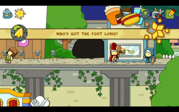 Scribblenauts Unlimited Screenshot Wallpaper Whos Got A Foot Long