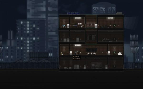 Gunpoint Screenshot Wallpaper Hiding in an Elevator