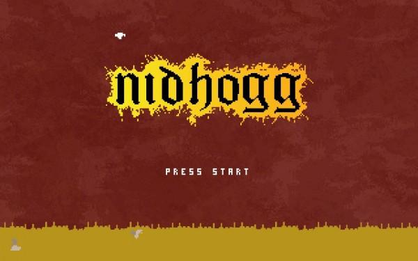 Nidhogg Review Screenshot Wallpaper Title Screen