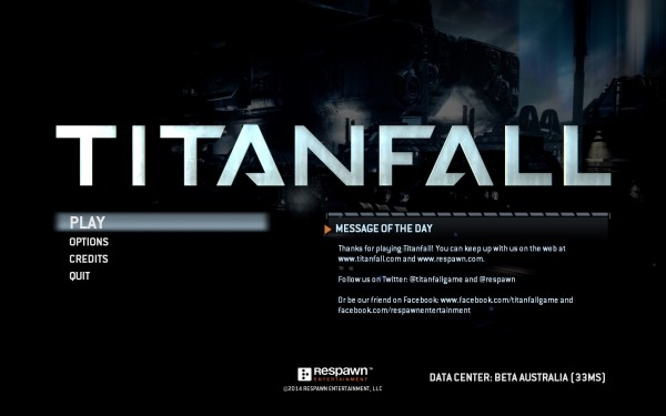 Titanfall Review Screenshot Wallpaper Title Screen
